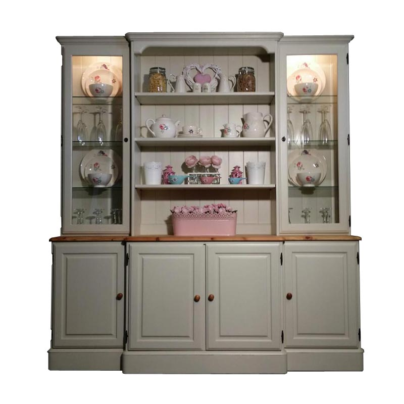 Large Ducal Pine Farmhouse Kitchen Welsh Dresser Shabby Chic In Farrow
